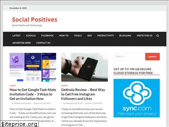 socialpositives.com website worth