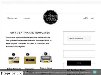 101giftcertificatetemplates.com