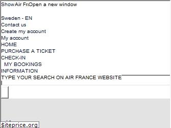www.airfrance.se website price