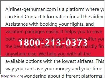 airlines-gethuman.org