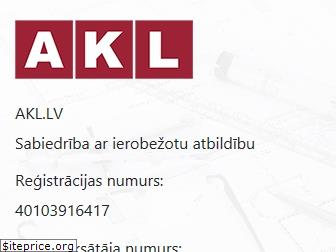 www.akl.lv website price