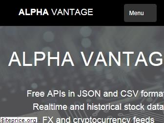 www.alphavantage.co website price