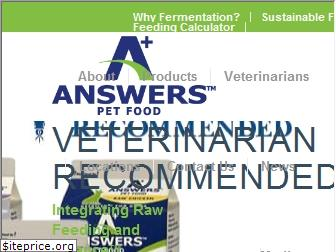 answerspetfood.com