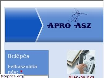 www.aproasz.hu website price
