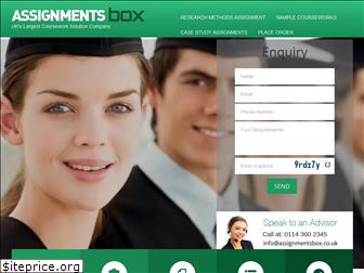 assignmentsbox.co.uk