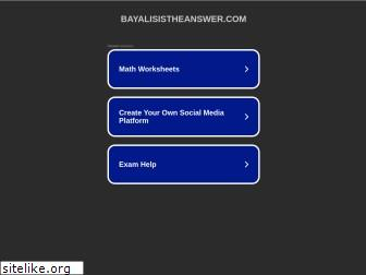 bayalisistheanswer.com