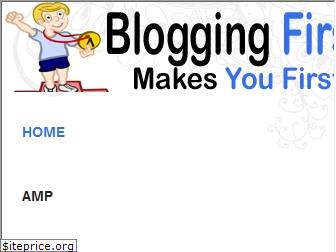 bloggingfirst.com