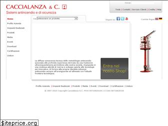 www.caccialanza.it website price