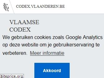 www.codex.vlaanderen.be website price