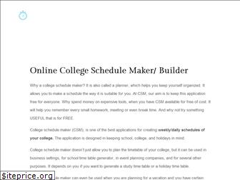 collegeschedulemaker.net