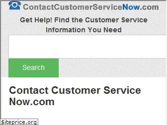 contactcustomerservicenow.com