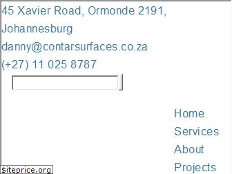 www.contarsurfaces.co.za website price