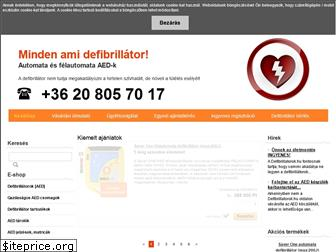 www.defibrillatorok.hu website price