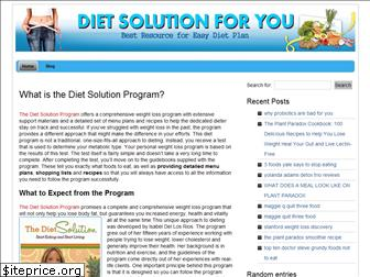 dietsolutionforyou.org
