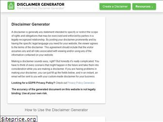 disclaimergenerator.net