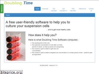 doubling-time.com