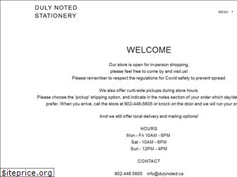 dulynoted.ca