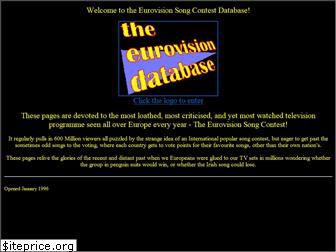 www.eurovisiondatabase.co.uk website price