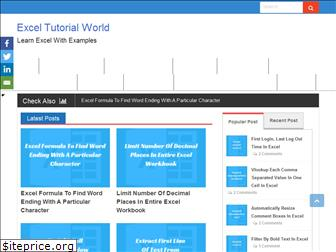exceltutorialworld.com