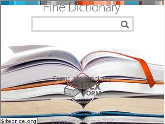 finedictionary.com