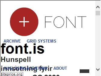 font.is