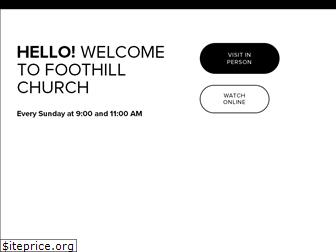 foothill.church
