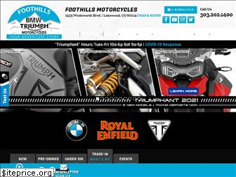 foothillsmotorcycles.com