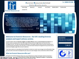 forensicresources.co.uk