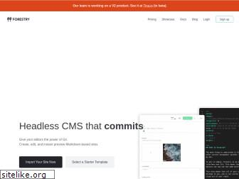 forestry.io