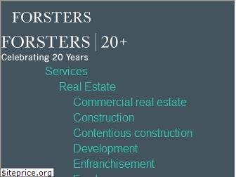 forsters.co.uk
