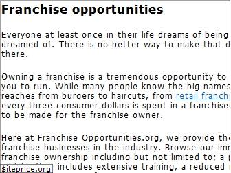 franchiseopportunities.org