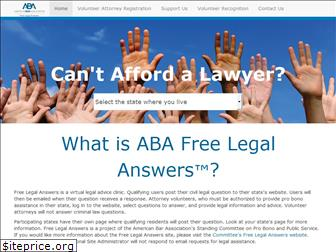 freelegalanswers.org