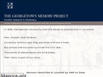georgetownmemoryproject.org