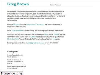 gregbrown.co