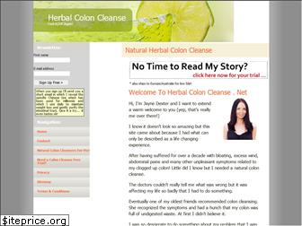 www.herbalcoloncleanse.net website price