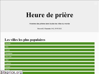 horaire-priere.be