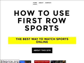 howtousefirstrowsports.weebly.com