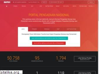 www.inaproc.id website price