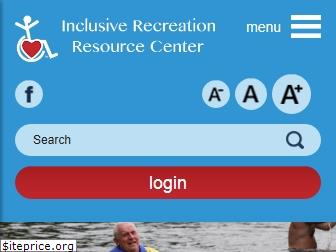www.inclusiverec.org website price