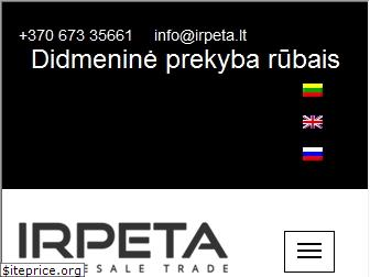www.irpeta.lt website price