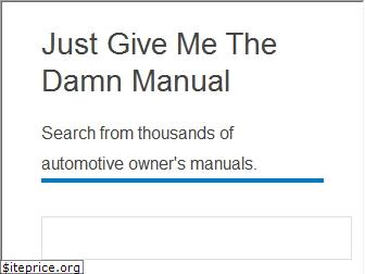 justgivemethedamnmanual.com