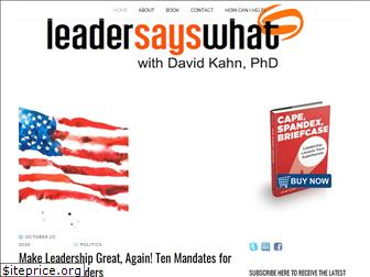 leadersayswhat.com