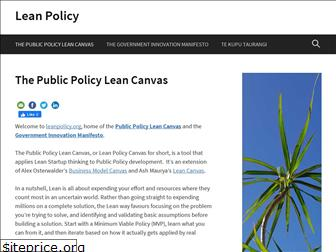 leanpolicy.org