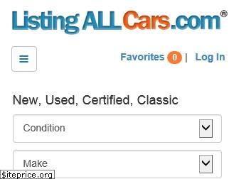 Listingallcars Com Used >> Listingallcars Com Website Worth Domain Value And Website Traffic