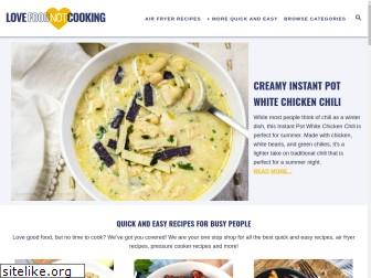 lovefoodnotcooking.com