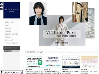 www.melrose.co.jp website price