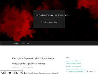 mining4meaning.com