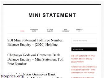 ministatement.in