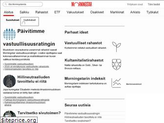 www.morningstar.fi website price