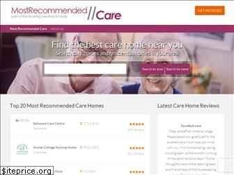 mostrecommendedcare.co.uk